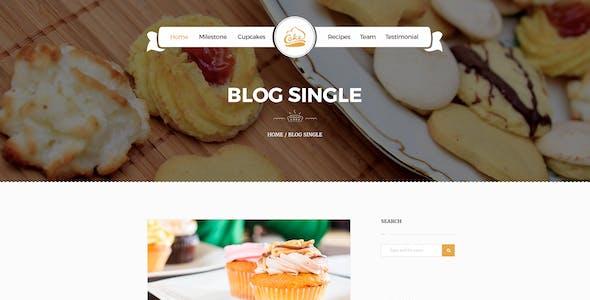Cake - Easy & Slight Bakery PSD Template