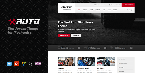 Auto - WordPress theme for Mechanic, Car Dealers and Repair Shops - Corporate WordPress