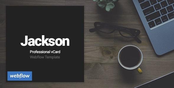 Jackson - Professional vCard Webflow Template - Webflow CMS Themes