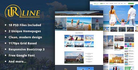 Urline - Creative Business PSD Template - Creative Photoshop