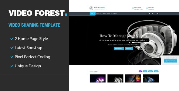 Video Forest - HTML Template - Entertainment Site Templates