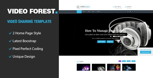 Video Forest - HTML Template