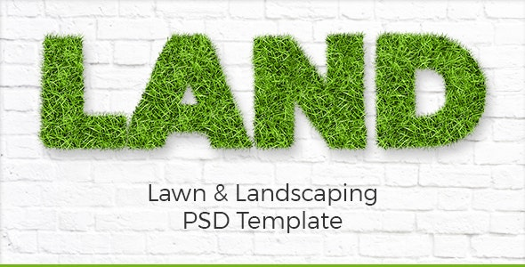 Land - Lawn & Landscaping PSD Template - Business Corporate