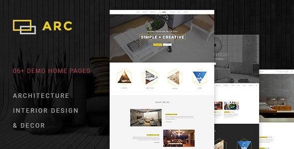 ARC - Interior Design, Decor, Architecture Business PSD Template by