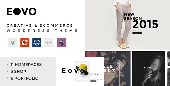 EOVO - Creative & eCommerce WordPress Theme - Creative WordPress