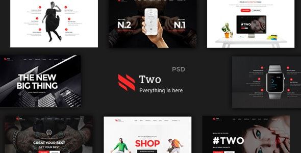 NumberTwo - Creative Multipurpose PSD Template - Creative PSD Templates