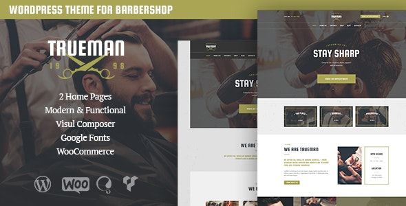 Trueman - Hairdresser & Shaving Barbershop WordPress Theme - Health & Beauty Retail