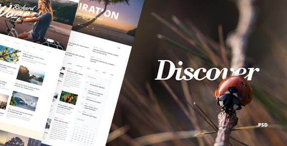Discover – Blog & Magazine PSD Template
