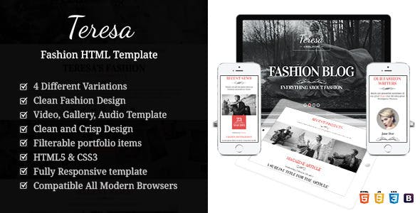 Vintage Fashion - Modeling HTML Template