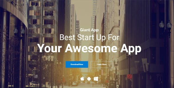 Giant App - An App Landing Template Solution