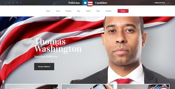 Political Candidate - Politician PSD template