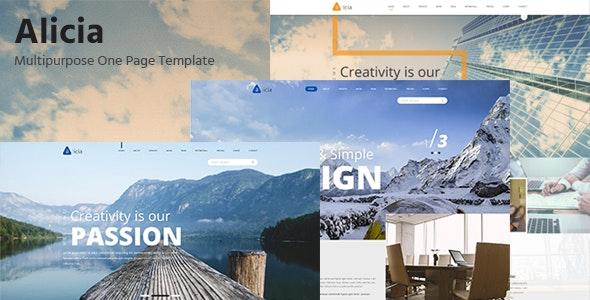 Alicia - Multipurpose PSD Template - Corporate Photoshop