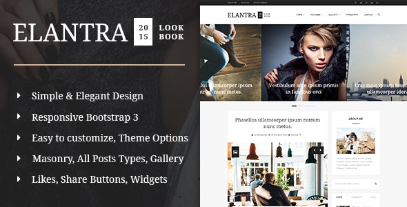 Elantra 2015 - Elegant Personal Blogging Theme - Personal Blog / Magazine