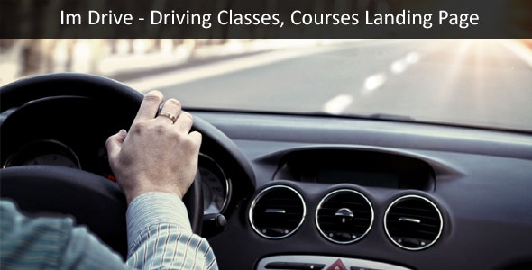 Im-Drive Driving Classes, Courses Landing Page Template - Business Corporate