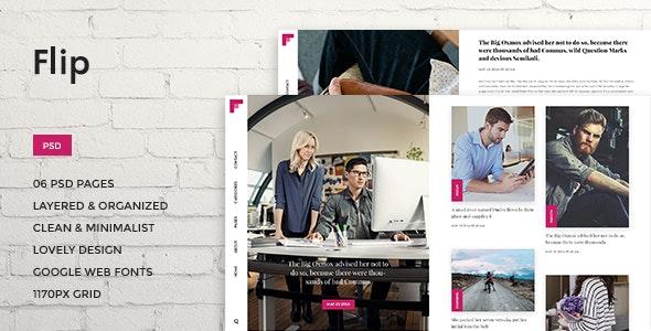 Flip - Lifestyle/Magazine PSD Theme - Portfolio Creative
