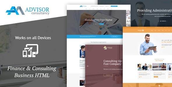 Advisor Consultancy, Business, Finance Template  - Business Corporate