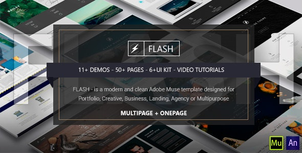 FLASH - Multi-Purpose Muse Template - Creative Muse Templates