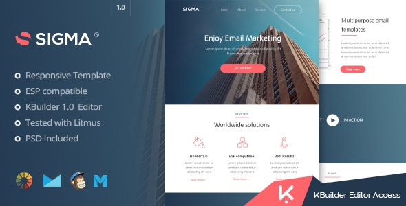 Sigma - Multipurpose Email Template + Builder 1.0  - Email Templates Marketing