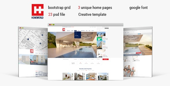 Homeworld - Real Estate HTML5 Template - Business Corporate