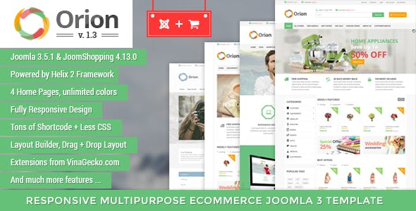 Orion :: Businesses & e-Commerce Joomla Template by VinaWebSolutions