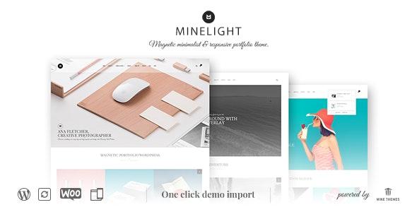 Minelight – Minimal Portfolio WordPress Theme - Portfolio Creative