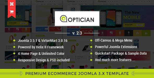 Vina Optician - Premium eCommerce Joomla Template - Shopping Retail