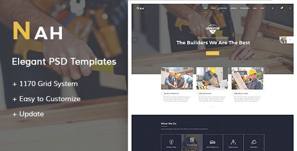 Nah - Construction PSD Templates - Business Corporate