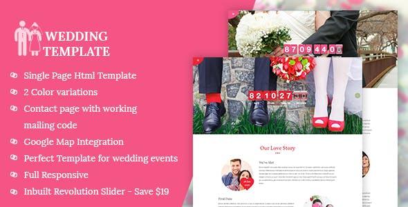 My Wedding - Invitation HTML Template