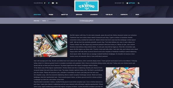 Ink Arts - Tattoo Salon PSD Template