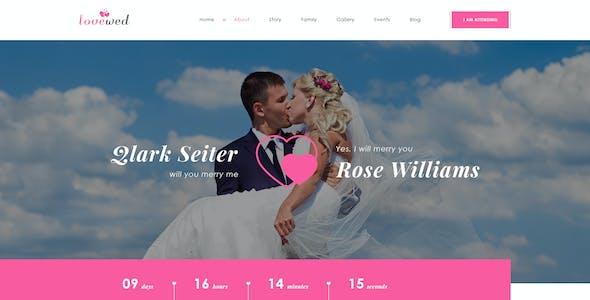 Lovewed - Event & Wedding PSD Template