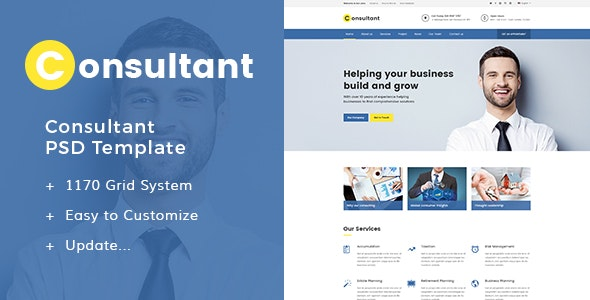 Consultant - PSD Templates - Business Corporate