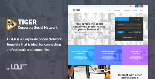 Tiger - Corporate Social Network Template