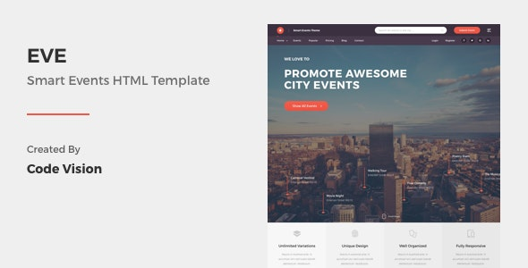 EVE - Events Directory & Listings HTML Template - Business Corporate