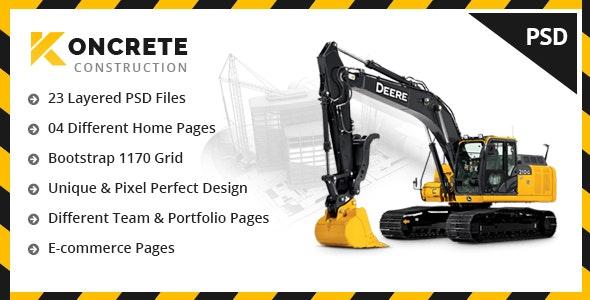Koncrete - Construction & Building PSD Template - Business Corporate