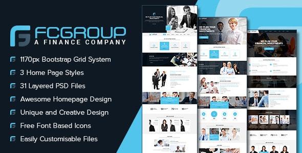 Finance Group - Multi Purpose PSD Template - Corporate Photoshop