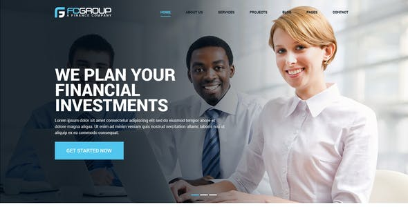 Finance Group - Multi Purpose PSD Template