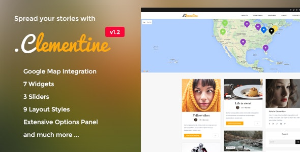 Clementine - Clean WordPress Blog Theme - Blog / Magazine WordPress