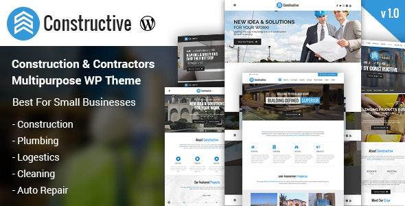 Constructive Contractors Multi-purpose WordPress Theme - Business Corporate