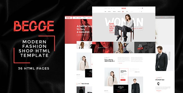 Begge - Modern Fashion Shop HTML Template - Fashion Retail