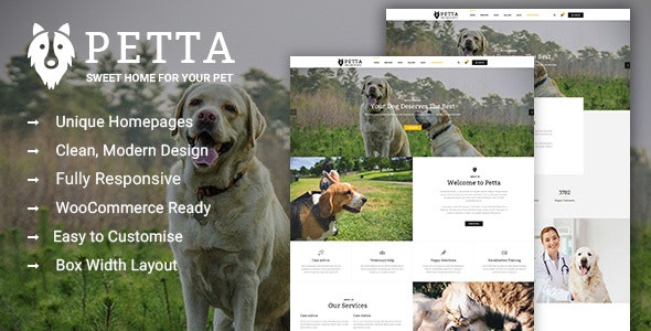 Petta - Premium Pet Care WordPress Theme - Business Corporate