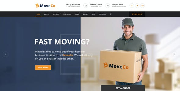 MoveCo - Moving Company PSD Template