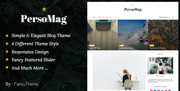 PersoMag - Clean & Personal Blogger Theme - Blogger Blogging