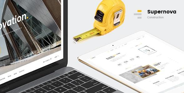 Supernova   Mutil-Concept Construction PSD Template - Corporate Photoshop