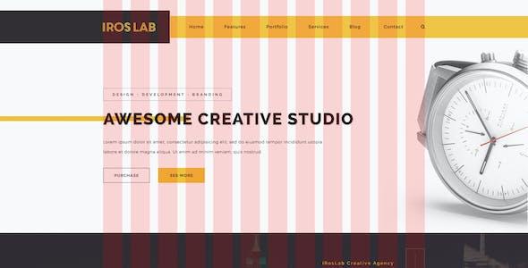 iRos - Creative One Page Portfolio PSD Template