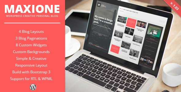 MaxiOne - Creative Personal Blog WordPress Theme - Personal Blog / Magazine