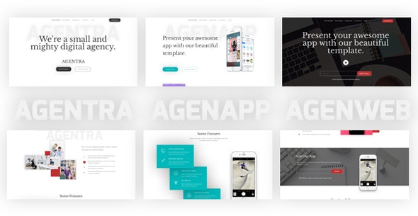 Agentra Responsive Landing Page Bundle - Corporate Landing Pages