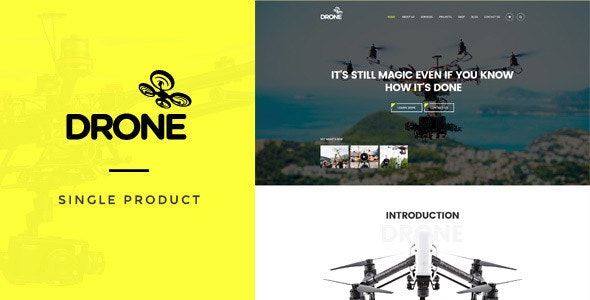 Drone - Single Product WordPress Theme - WooCommerce eCommerce