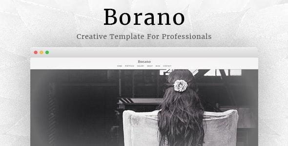 Borano - Photography / Portfolio Template - Photography Creative