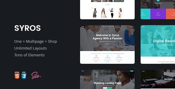 Syros | Multi-purpose Modern HTML5 Template - Site Templates