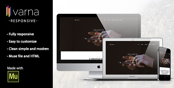 VARNA - Creative Multi-Purpose Muse Template - Corporate Muse Templates
